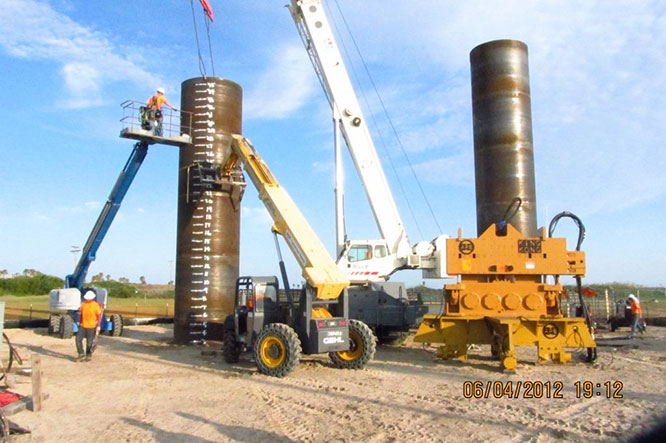 Pipe piling alpha company used steel new
